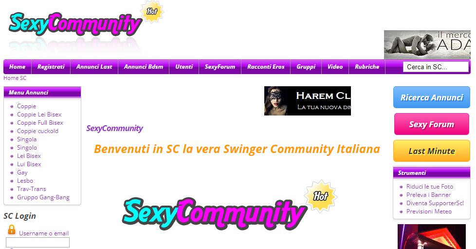 Annunci per scambisti SexyCommunity
