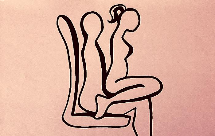 fare sesso in auto con la posizione cawgirl di spalle