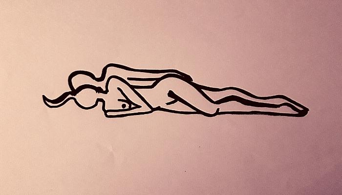 sesso anal con la posizione del cucchiaio