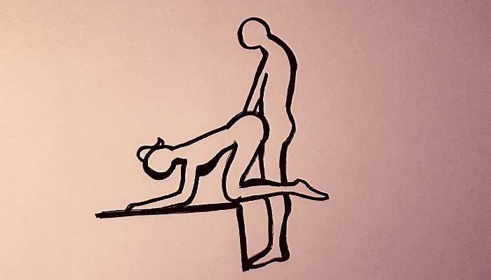 penetrazione anale con la posizione della pecorina
