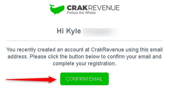 Confirm Email - affiliazione adult porno di CrackRevenue
