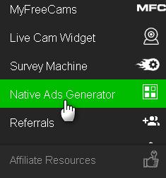 Native ADS Generator - affiliazione adult porno di CrackRevenue